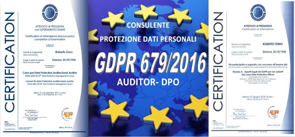 Protezione dati personali GDPR679/2016: